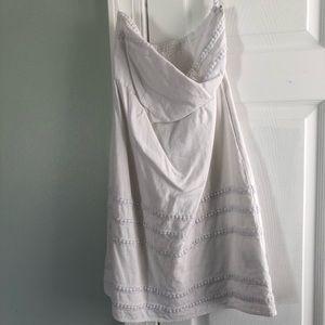 White strapless summer dress
